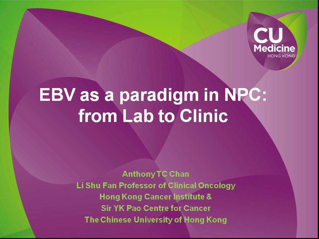 Meeting Library | Epstein-Barr Virus as a Paradigm in